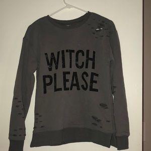 Kittenish Witch Please Sweatshirt